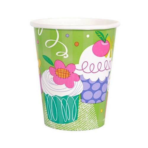 Bicchieri Cupcake 8 pezzi