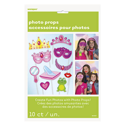 Set photo booth Principesse per selfie e foto 10 pezzi
