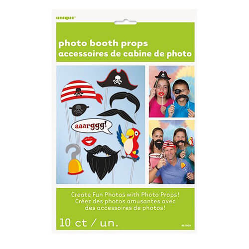 Set photo booth Pirati per selfie e foto 10 pezzi