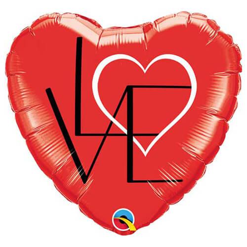 Palloncino cuore rosso scritta Love 45 cm 1 pezzo