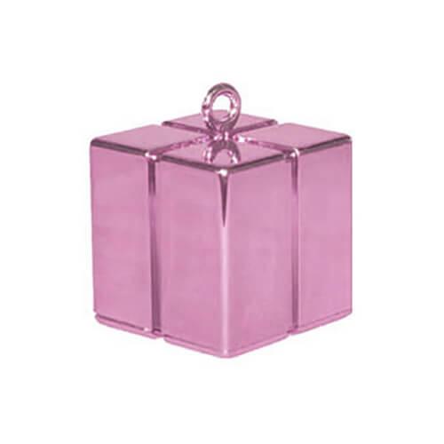 Pesino pacchetto rosa pastello per ancorare palloncini 1 pezzo