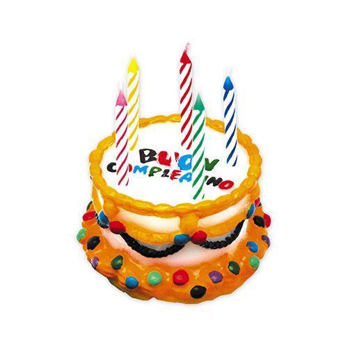 Candelina torta buon compleanno 6 pezzi