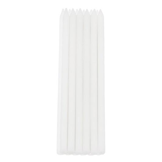 Candeline stelo bianco per torta 12 pezzi