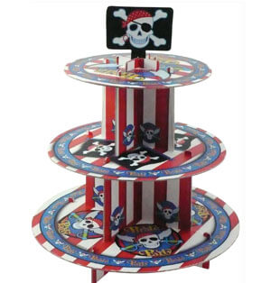 Alzata cupcake Pirati 1 pezzo