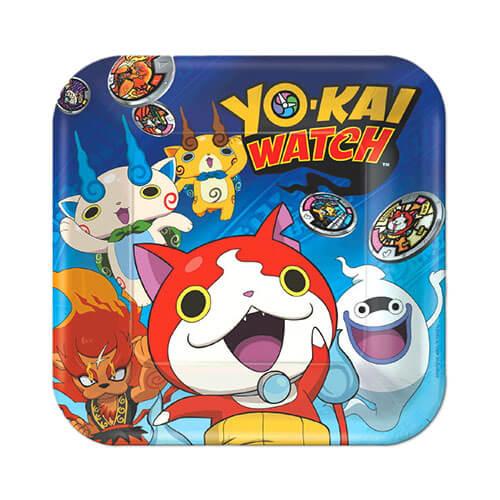 Piatti Yo-kai Watch grandi 8 pezzi