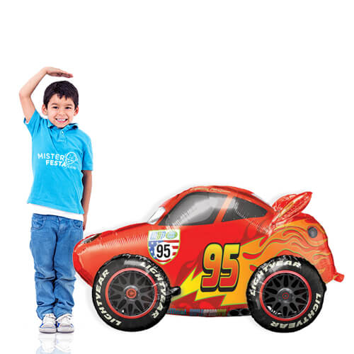 Palloncino Cars Saetta Lightning McQueen mascotte AirWalkers 1 pezzo