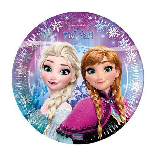 Piatti Frozen grandi 8 pezzi