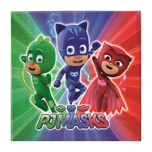 Tovaglioli Pj Masks Super Pigiamini 20 pezzi