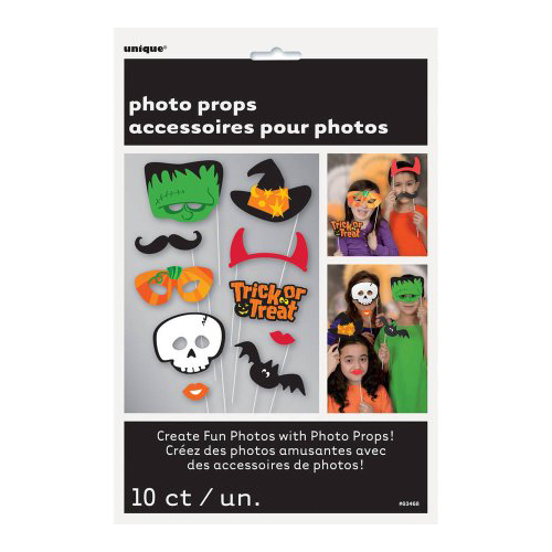 Set photo booth Halloween per selfie e foto 10 pezzi