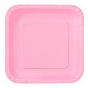 Piatti rosa pastello grandi 14 pezzi
