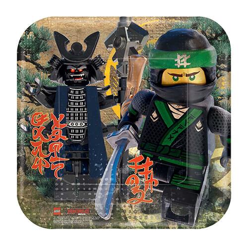 Piatti Lego Ninjago grandi 8 pezzi