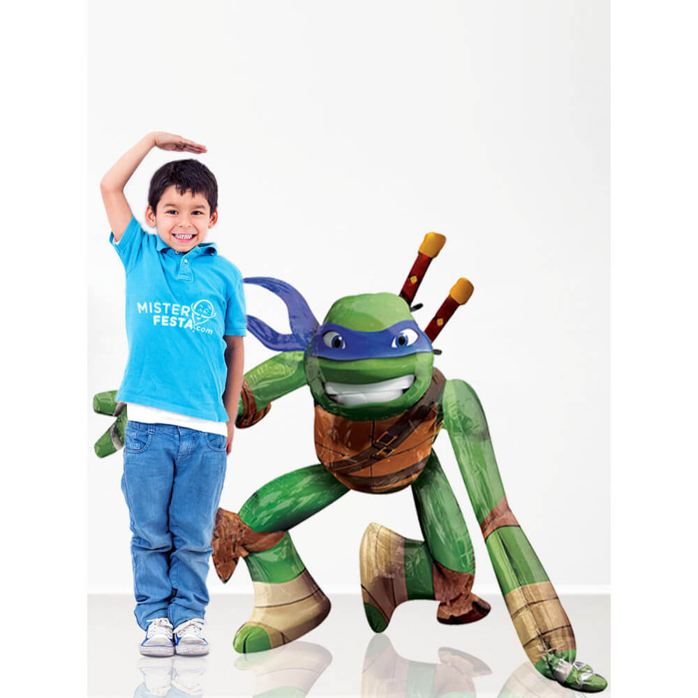 Palloncino Leonardo Tartarughe Ninja mascotte AirWalkers 1 pezzo