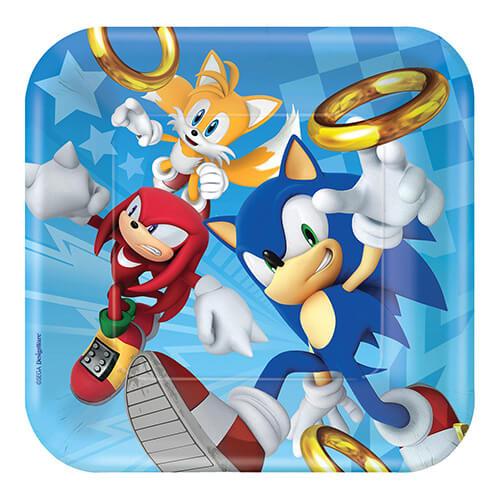 Piatti Sonic the Hedgehog grandi 8 pezzi