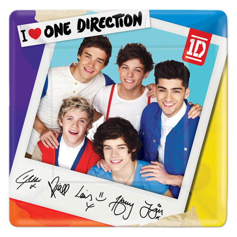 Piatti One Direction grandi 8 pezzi