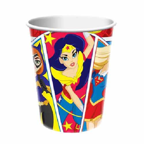 Bicchieri DC Super Hero Girls 8 pezzi