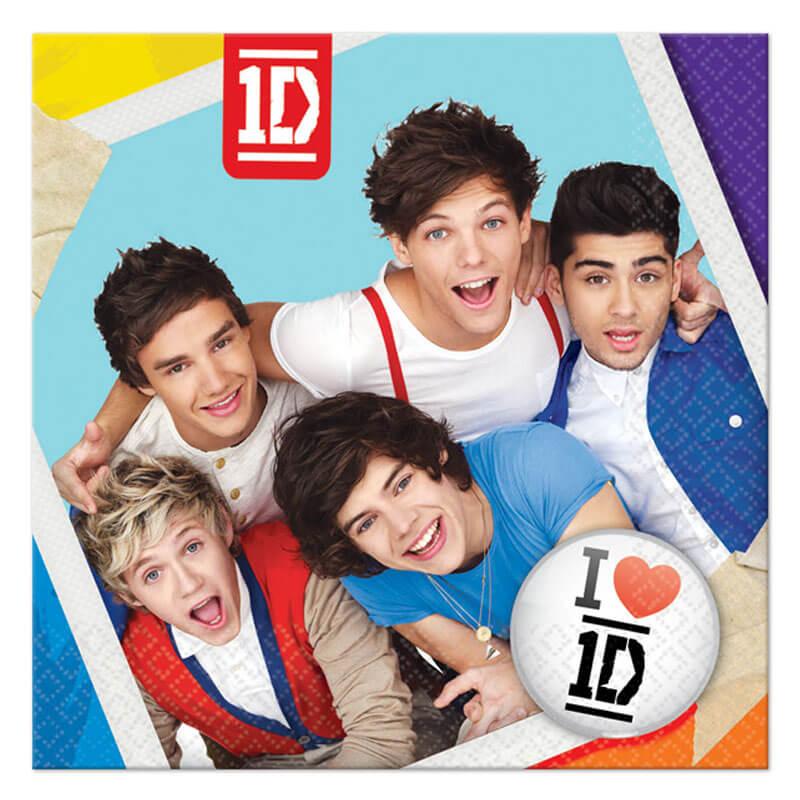 Tovaglioli One Direction 16 pezzi
