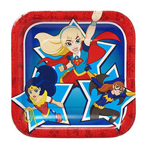 Piatti DC Super Hero Girls grandi 8 pezzi