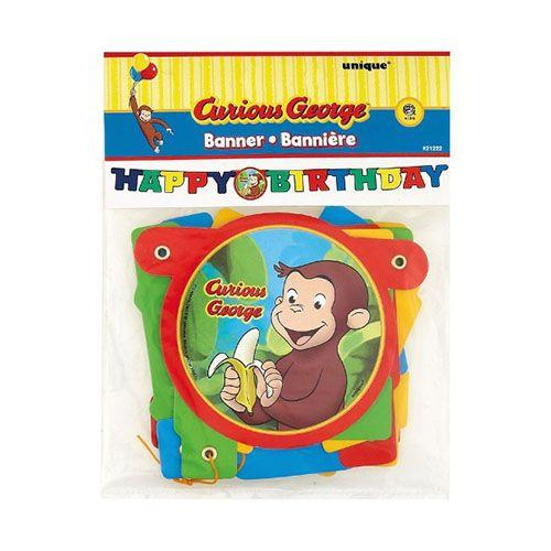 Festone Curioso come George happy birthday 1 pezzo