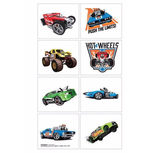 Tattoo Hot Wheels 8 pezzi