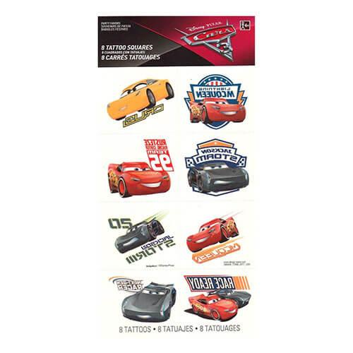 Tattoo Cars Disney 8 pezzi