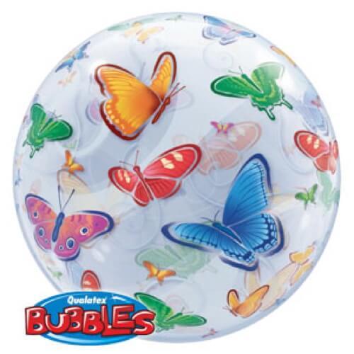 Palloncino farfalle Bubble 56 cm 1 pezzo