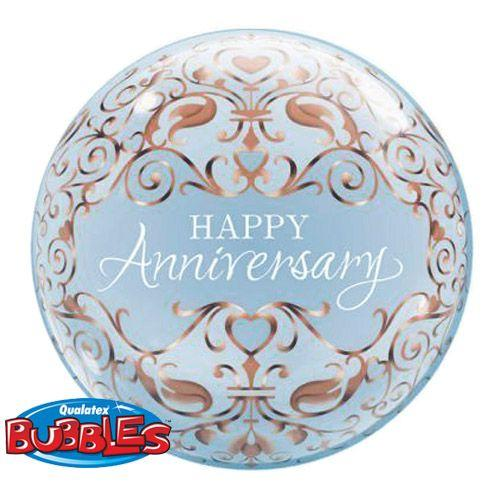 Palloncino anniversario scritta Anniversary Bubble 56 cm 1 pezzo
