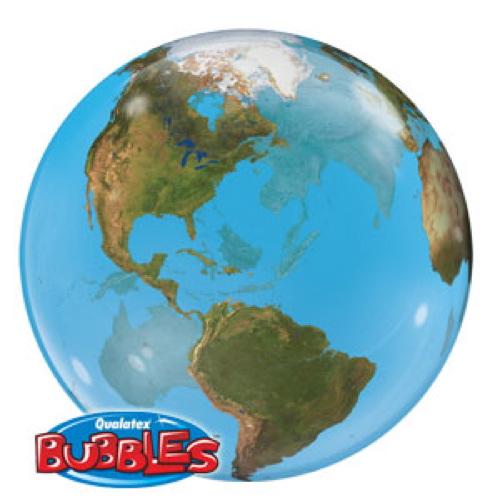 Palloncino globo terrestre Bubble 56 cm 1 pezzo