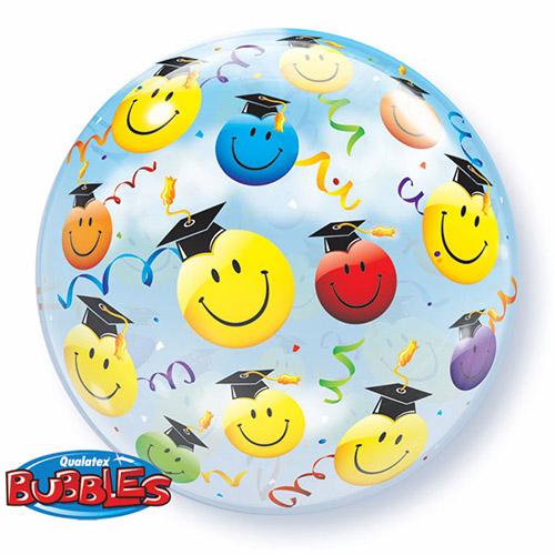 Palloncino diploma e laurea smile emoji Bubble 56 cm 1 pezzo