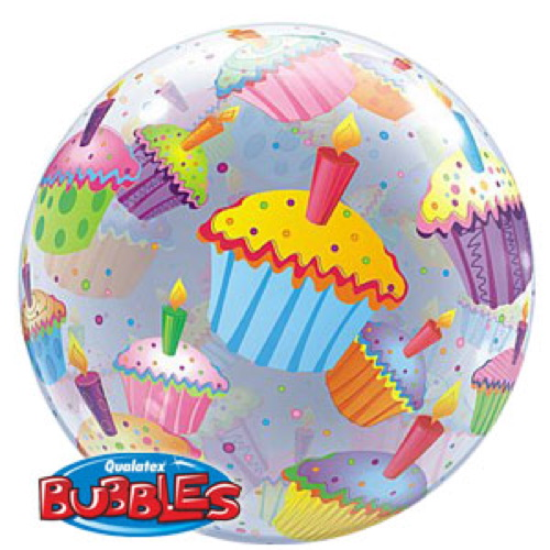 Palloncino cupcake assortiti Bubble 56 cm 1 pezzo