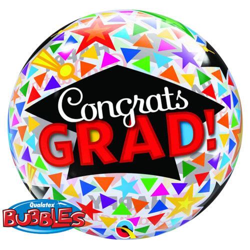 Palloncino laurea tocco scritta congrats Bubble 56 cm 1 pezzo