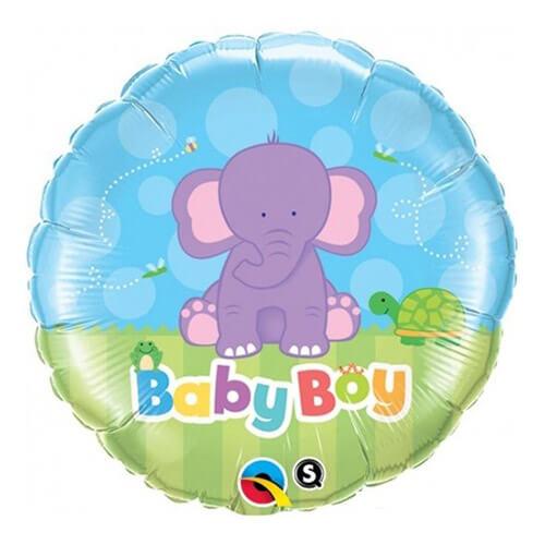 Palloncino elefantino baby boy 45 cm 1 pezzo