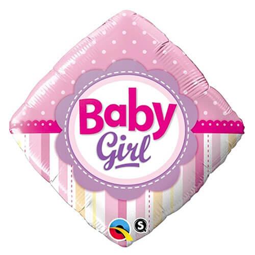 Palloncino pois e righe baby girl 45 cm 1 pezzo