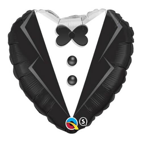 Palloncino cuore abito sposo 46 cm 1 pezzo