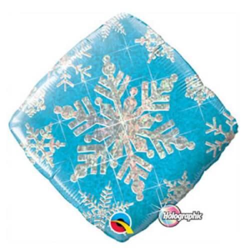 Palloncino celeste fiocco di neve 45 cm 1 pezzo