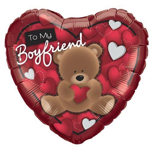 Palloncino cuore to my boyfriend 46 cm 1 pezzo