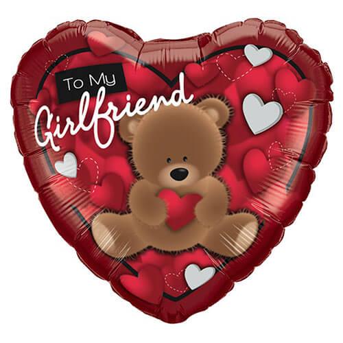 Palloncino cuore scritta To My Girlfriend 45 cm 1 pezzo