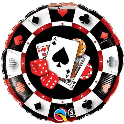 Palloncino casino card night 45 cm 1 pezzo