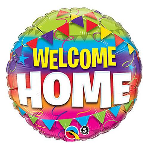 Palloncino bentornato scritta welcome home 45 cm 1 pezzo