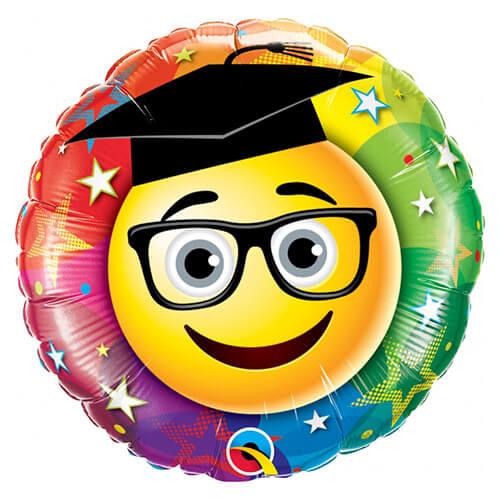 Palloncino smile emojy diploma e laurea 45 cm 1 pezzo