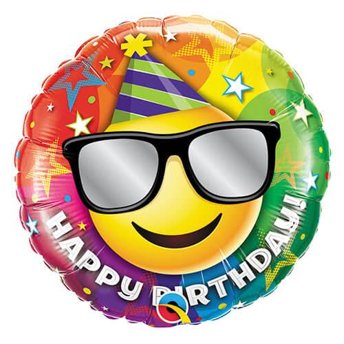 Palloncino smile emoji party compleanno scritta Happy BDay 45 cm 1 pezzo