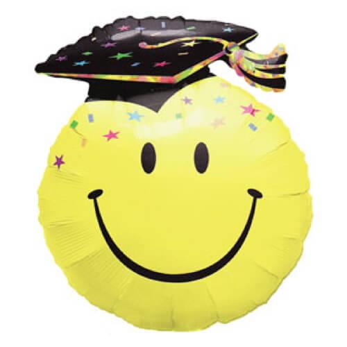 Palloncino diploma e laurea smile emoji UltraShape 1 pezzo