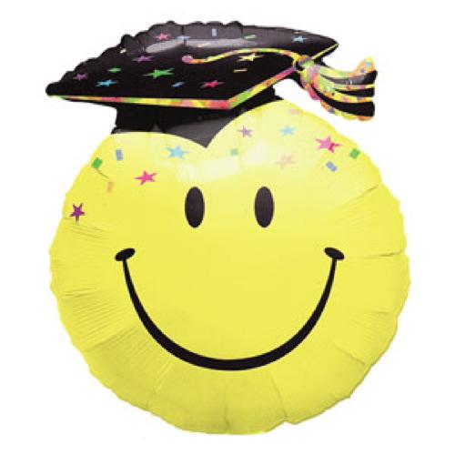 Palloncino laurea smile emoji UltraShape 1 pezzo