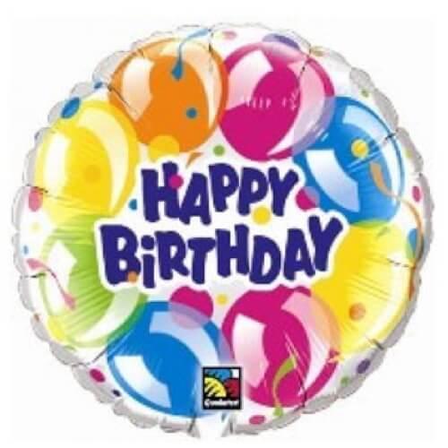 Palloncino balloons compleanno scritta Happy BDay 45 cm 1 pezzo