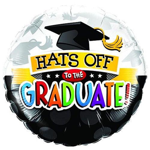 Palloncino laurea scritta Hats Off 45 cm 1 pezzo