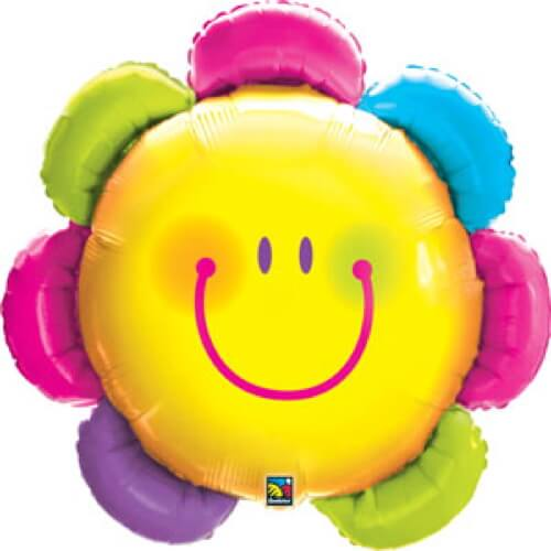Palloncino fiore smile emoji UltraShape 1 pezzo