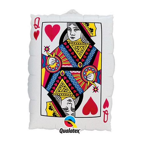 Palloncino regina di cuori e asso di picche Card Night UltraShape 1 pezzo