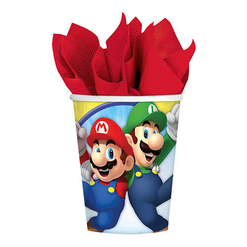 Bicchieri Super Mario Bros 8 pezzi