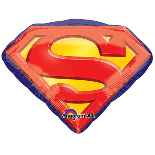 Palloncino Super-Man emblema SuperShape 1 pezzo
