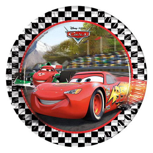 Piatti Cars Disney grandi 8 pezzi