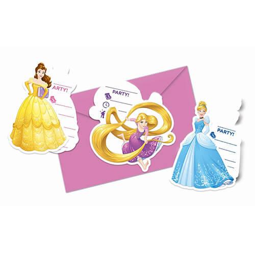 Inviti festa Principesse Disney con buste 6 pezzi